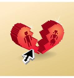 Pixel Heart vector image