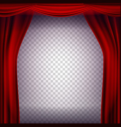 red theater curtain transparent background vector image vector image