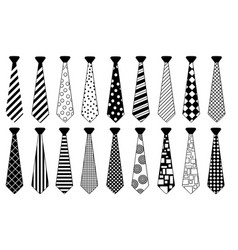set of ties with different patterns vector image