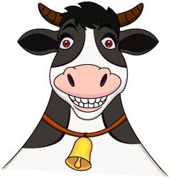 Smiling cow cartoon vector image vector image