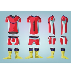 Soccer uniform team sportswear design vector