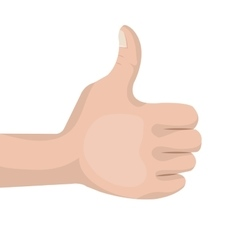 thumb up like concept design vector image