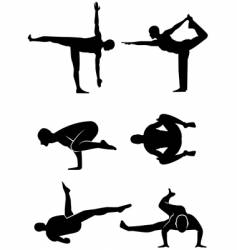 yoga alternative positions vector image vector image