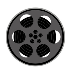 Tape film movie isolated icon vector