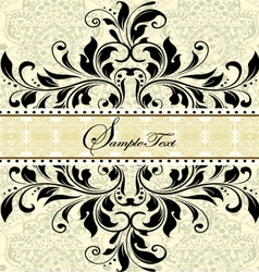 Vintage invitation card with abstract floral backg vector