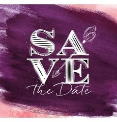 Poster wedding save date violet vector