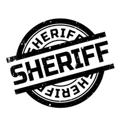 Sheriff rubber stamp vector