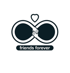 Friends forever everlasting friendship unusual vector