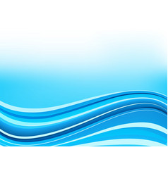 Blue and white waves background vector
