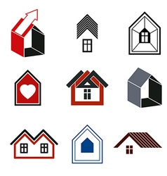 Houses abstract icons for use in advertising vector