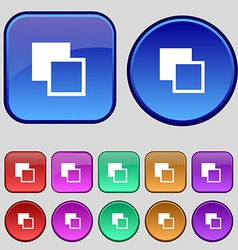 Active color toolbar icon sign a set of twelve vector