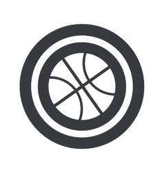Round black basketball sign vector