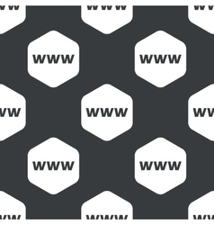 Black hexagon www pattern vector
