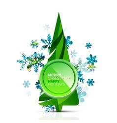 Christmas tree with button vector