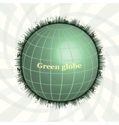 Green planet green globe eco design pure land vector