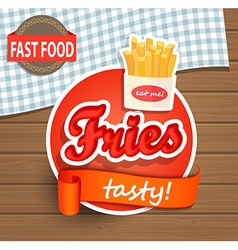 Tasty fries concept vector