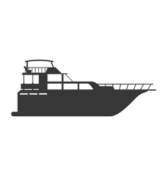 Yacht icon transportation design graphic vector