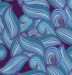 Abstract hand-drawn lines and waves seamless vector image