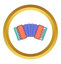 Accordion icon vector