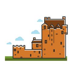 Ancient castle scotland travel tourism landmark vector
