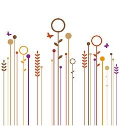 autumn garden vector image vector image