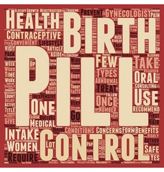 Birth Control Pill Health Benefits and Lifestyle vector image