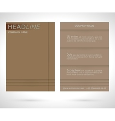 Brochure flyer template vector