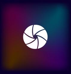 camera shutter icon vector image
