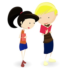 Cartoon Students vector image vector image