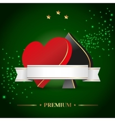 casino theme with poker symbols and cards vector image