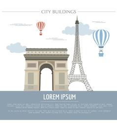 City buildings graphic template france paris vector