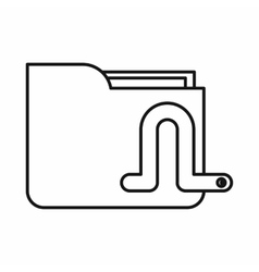 Computer worm icon outline style vector