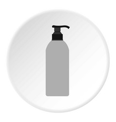 Cosmetic bottle icon circle vector