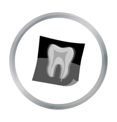 Dental x-ray icon in cartoon style isolated on vector image