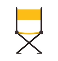 Directors chair cinema movie design vector