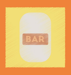 Flat shading style icon bar sign vector