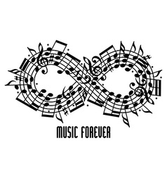Forever music concept vector image vector image