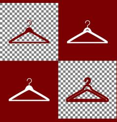 Hanger sign bordo and white vector