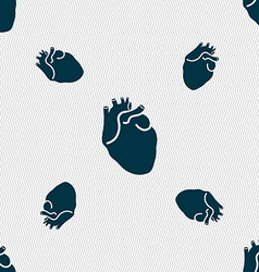 Human heart sign Seamless pattern with geometric vector image vector image