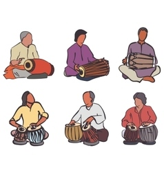 Indian drums set vector