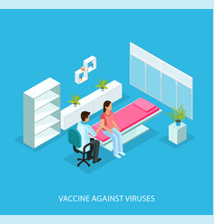 isometric medical care template vector image