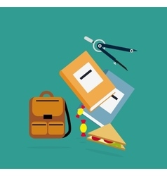Items backpack book dividers lunch vector