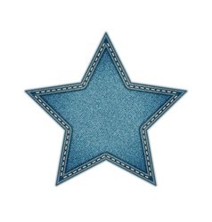 Jeans tag star isolated on white background vector