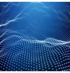 Landscape background terrain cyberspace grid vector