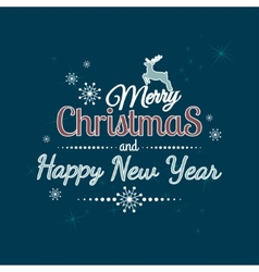 Merry Christmas And Happy New 2015 Year vector image