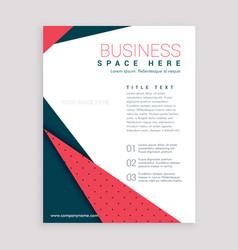 minimal business flyer design leaflet cover page vector image vector image