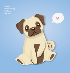 my pug cute vector image