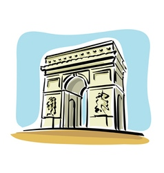 Paris arc de triomphe vector