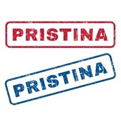 Pristina rubber stamps vector