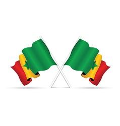 senegal flag vector image
